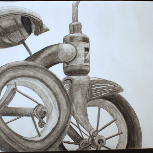 Graphite Tricycle Drawing