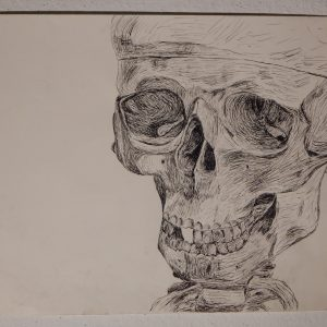 Skeleton Pen Drawing